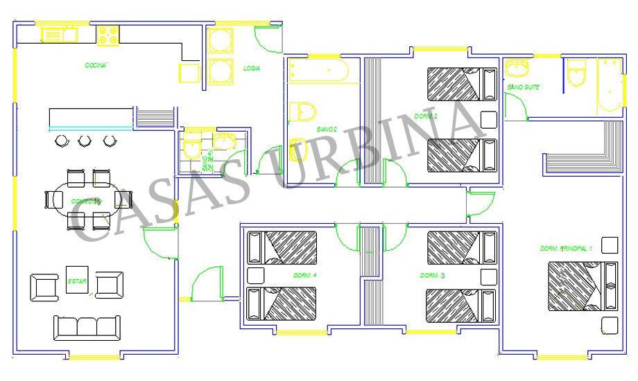 Casas prefabricadas todo chile casas urbina modelos for Planos de casas 80 mts2